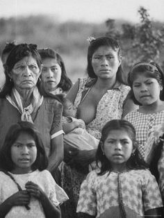 size: Photographic Print: Family of Guarani Indian Women with Mother Breast Feeding an Infant by Leonard Mccombe : Artists Native American Beauty, Native American Photos, Native American History, Native American Indians, Breastfeeding Photography, Nursing Photography, Nursing Mother, People Of The World, Mothers Love