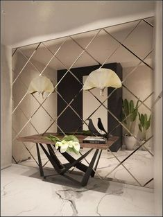 34 Popular Mirror Wall Decor Ideas Best For Living Room Decor Ideas Living Mirror mirrorwalldecor Popular Room Wall Glass Wall Design, Wall Panel Design, Wall Mirror Design, Living Room Mirrors, Living Room Decor, Living Room Paint, Wooden Living Room Furniture, New Furniture, Dining Room