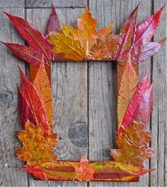 DIY Autumn Crafts: DIY Fall Crafts: DIY: Fall Foliage Frames!