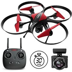 Drones with Camera - Red Heron Camera Drone for Kids and Adults with RC Drone Camera + Drone Video Camera SD Card Drone Kit Price Drone App, Buy Drone, Drone For Sale, Drone Quadcopter, Mode 3d, Pilot, Professional Drone, Flying Drones, Drone Technology