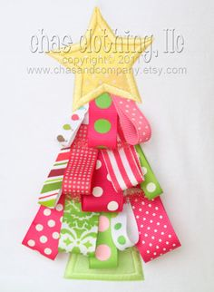Ribbon Christmas Applique Shirt but would make a cute Christmas card made by kids