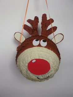 Pinata Rudolf reindeer by BabalinaWorld on Etsy