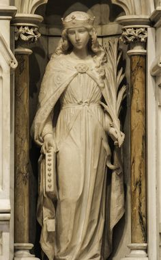 St Catherine of Alexandria Statue of St Catherine in St Patrick's Cathedral, New York. | by Lawrence OP