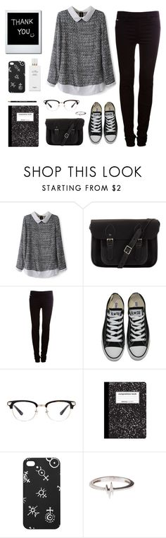 """Untitled #69"" by wtvlolwtv ❤ liked on Polyvore featuring The Cambridge Satchel Company, Pull&Bear, Converse, Monki and Hermès"