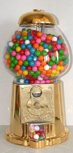 """Limited Edition King 15"""" Gold Gumball Machine"""