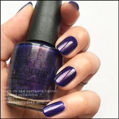 OPI Turn On The Northern Lights! w top coat – OPI Iceland 2017