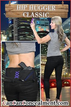It's date night! Be sure to be armed in the city or in the country. Your Can Can Hip Hugger will keep your firearm within reach! Four holster pockets and three auxiliary pockets for 360* conceal carry. Machine washable and Made in the USA! https://www.cancanconcealment.com/colle…/hip-hugger-holsters #FashionFriday #SigSauer #WomensBestHolster