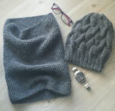 Knitted man's set
