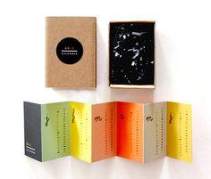 accordion calendar project by Erin Jang of Indigo Bunting. via plenty of color