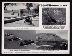 orig. WWII Press Photo - german Bombing of Malta - Date of publication: April 13, 1942