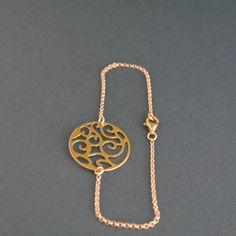Runde Disc-Goldarmband Lightweight filigran von JewelryLemano