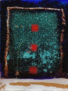 D-17.Dec.2009  reverse painting on glass  林孝彦 HAYASHI Takahiko 2009