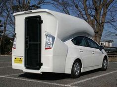 The Prius Camper: Toyota Prius Converted into an RV!  As if they weren't slow enough already.