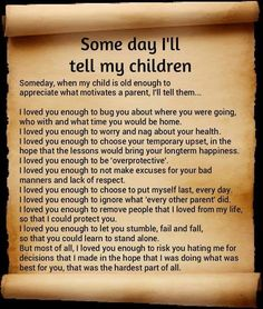 Someday I Will Tell My Children
