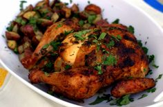 Team Traeger | Smoke-Roasted Chicken with Herbed Butter & Roasted Potatoes