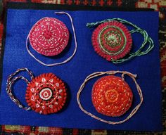 "Slavic Designs Hanging Six-Herb Sache's - Phoenix: ""I create in my ancestors Slavic designs with a more modern approach to the sacred amulets, talisman, the folk art of Charm Bags, Dreamer's Soul Satchels and Divination Pouches"" write ElderMountainRetreats@gmail"