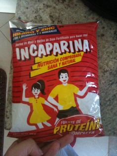 Incaparina!  My favorite Guatemalan atol since I was a baby... I used to drink this in my bottle and I STILL drink it :D