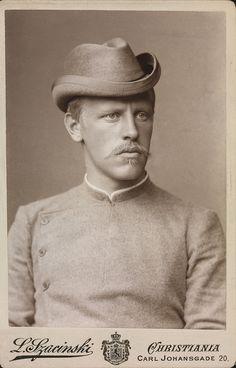 "fridtjof nansen images | Fridtjof Nansen, 1889.Credit:""Photographer: L. Szacinski / Owner ..."