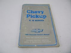 Chevy #pickup truck 1988 88 factory #owners manual set #chevrolet chev gmc1500 25,  View more on the LINK: http://www.zeppy.io/product/gb/2/132049149062/