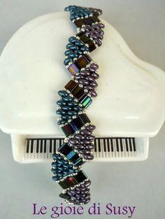 Bracciale con tila e twins beads