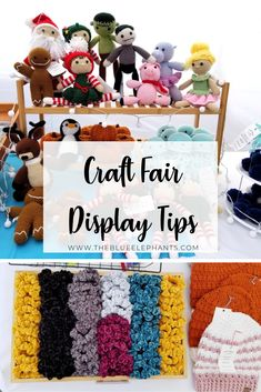 How to Create a Craft Fair Display that Drives Sales! Are you doing any craft fairs and markets this season? Take time to think about your booth with these craft fair display tips to help drive sales! Crochet Craft Fair, Crochet Crafts, Free Crochet, Crochet Tutorials, Easy Crochet, Crochet Ideas, Craft Show Booths, Craft Fair Displays, Display Ideas