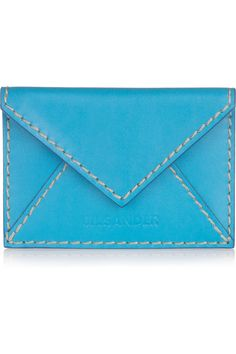 Turquoise Clutch: Can something like this be DIYed, it's so beautiful. #jilsander #fashion