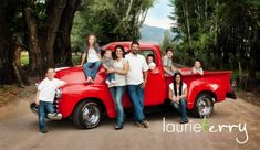 What do you get when you blend two cute families, seven darling kiddos, and an old fire engine red Chevy truck? Awesome family portraits. ...