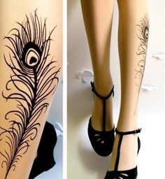 leg tattoos for women | Tattoo Design | Feather Tattoo | Girl Tattoos Design