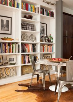 my design ethos: Dining with books