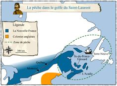 New France around 1645 Image Bank – Societies and Territories Quebec Montreal, Acadie, Saint Laurent, Prince, St Lawrence, History, News, Fishing, Image