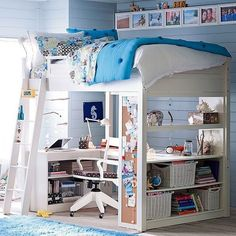 Cool boys' bedroom idea www.planese.com