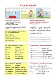 English worksheets: simple worksheets, page 6