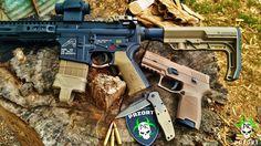 The Zombie Apocalypse Combo: Custom AR-15, Sig P320 9mm, SOG Knive & Gerber Crucial