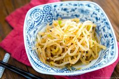 Spicy Bean Sprout Salad ホットもやし Bean Sprout Salad, Sprouts Salad, Bean Sprouts, Sea Weed Recipes, Asian Recipes, Healthy Recipes, Ethnic Recipes, Filipino Recipes, Free Recipes
