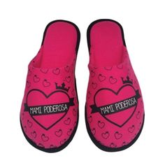 Pantufa Dia das mães Mami Poderosa Pink/ Preta