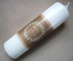 Hochzeitskerze ♥ MLA-Kraftpapier  ♥ von machs-licht-an auf DaWanda.com