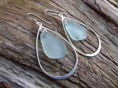 Sea glass jewelry  Beautiful aquamarine sea by FatCatsOnTheBeach, $29.00