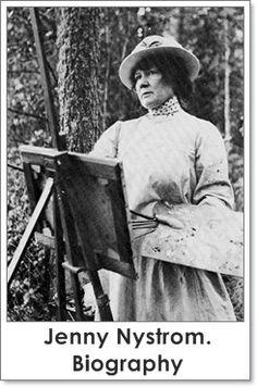 Jenny Eugenia Nyström (Swedish, 1854-1946) - «мама» нисси - «Впечатления дороже знаний...»