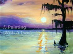 Everglades Sunset - St. Petersburg Painting Class - Painting with a Twist