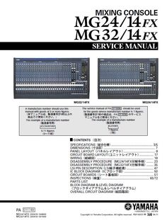 Yamaha 01V96 Digital Mixing Console Service Manual and ...