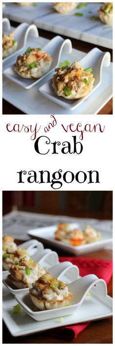 All the flavor of crab rangoon but vegan & oh-so-easy! A mouthwatering appetizer for a dinner party, football gathering, or just because. | cadryskitchen.com