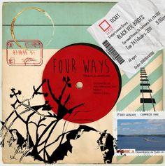 Four ways album cover Black Veil, Far Away, Album Covers, Ocean, Age, Graphics, Digital, Graphic Design, The Ocean