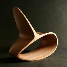 Wooden Rocking Chair Ocean Rocker Iii By Jolyonyates On Etsy