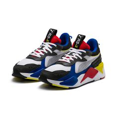 pretty nice faaff 01a8d New PUMA RS-X Toys Unisex Athletic Sneakers Shoes- White Royal Red