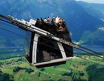 Stanserhorn Open Top Double Deck Aerial Cable Car Lake Lucerne