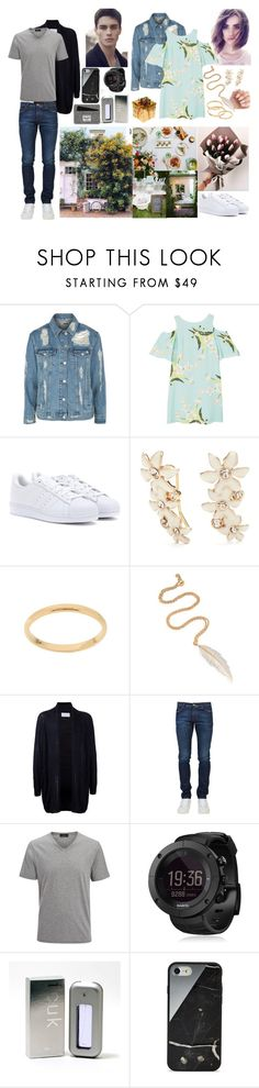 """Hello.."" by tgrr ❤ liked on Polyvore featuring Topshop, MANGO, adidas, Kate Spade, LeiVanKash, Estnation, Joseph, Suunto, French Connection and Native Union"