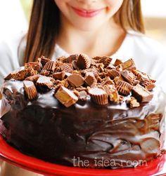 Peanut Butter Cup Cake Recipe via Amy Huntley (The Idea Room)