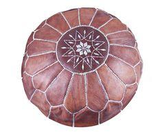 #Handmade #leather #embroidered #pouf available on #Morocco design shop, Beldi. More top picks: www.afri-love.com/2012/08/buy-african-online-shop-beldi-celebrating-moroccan-handicraft-.html