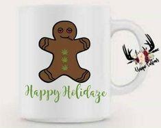 Gingerbread man  VINYL DECALS Christmas gold mug diy gift