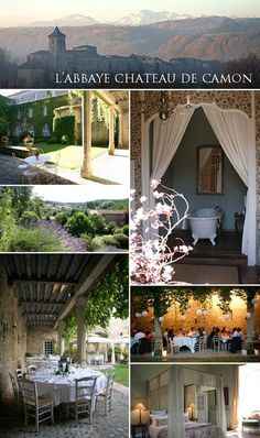 L'Abbaye-Chateau-de-Camon - Read More on One Fab Day http://onefabday.com/chic-wedding-venues-france/